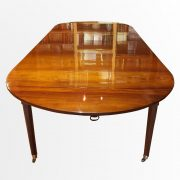 Table de salle à manger en acajou de Cuba, fin d'époque Louis XVI