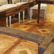 Coulisses en bois de chêne d'origine