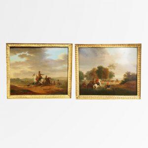 Paire de tableaux Jacques François Joseph SWEBACH
