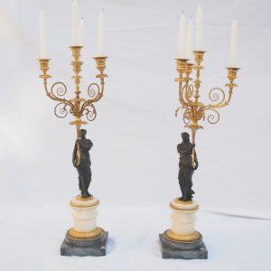 Paire de candélabres d'époque Louis XVI