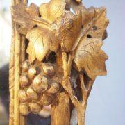 Glaces à par-closes provençale d'époque XVIIIe en bois sculpté et doré