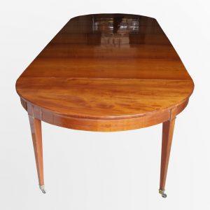 Table ovale à bandeau en acajou de Cuba
