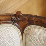 Paire de bergères de coins de feu à oreilles Louis XV