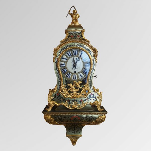 Petit cartel en marqueterie boule polychrome, d'époque Louis XV